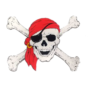 SKULL CROSSBONES RED BANDANA
