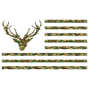 CAMO FLAG WITH DEER HEAD