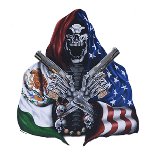 MEXICO/USA SKULL HITMAN W/GUNS