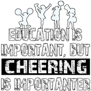 CHEERING IS IMPORTANTER