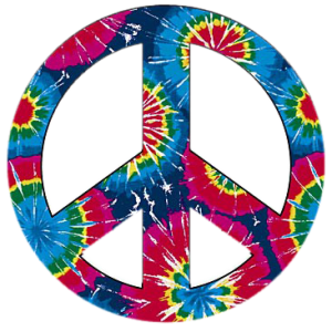 PEACE SIGN-TIE DYE