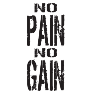 NO PAIN NO GAIN BLACK