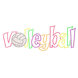 VOLLEYBALL NEON RHINESTUDS
