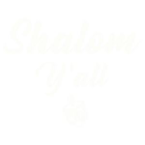 SHALOM Y'ALL HANNUKAH WHITE INK