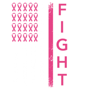 FIGHT CANCER DISTRESSED FLAG