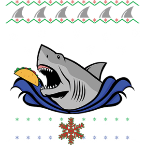 TACO SHARK CHRISTMAS SWEATER
