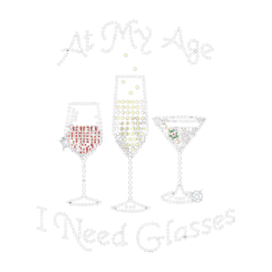 AT MY AGE RHINESTONE