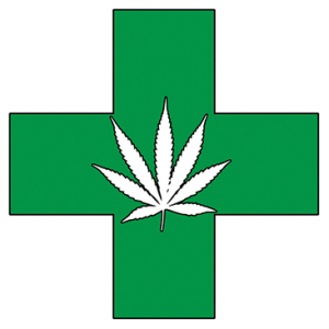 POT GREEN CROSS HEMP LEAF