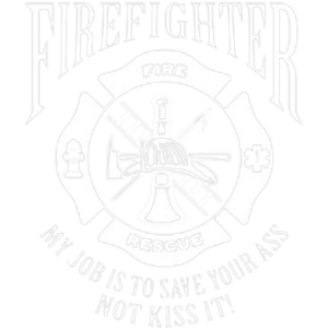 U.S. FIREFIGHTER JOB WHITE INK