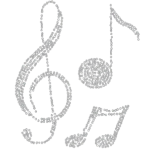 MUSIC NOTE RHINESTONE