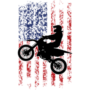 DIRT BIKE DISTRESS US FLAG