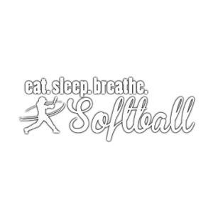 EAT SLEEP SOFTBALL WHITE