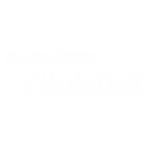 EAT SLEEP BASKETBALL WHITE