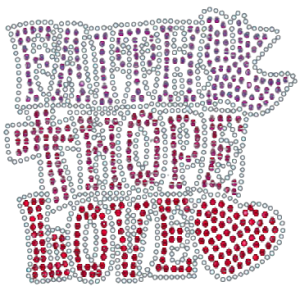 FAITH, HOPE, LOVE RHINESTONE