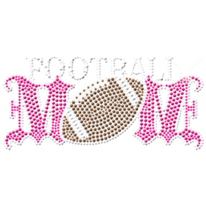 FOOTBALL MOM RHINESTUDS