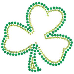 IRISH SHAMROCK RHINESTONE