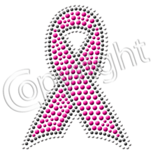 BREAST CANCER RIBBON RHINESTUDS