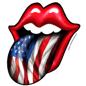 LIPS TONGUE AMERICAN FLAG