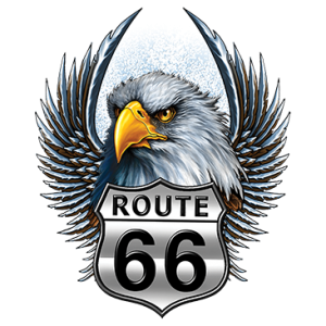 ROUTE 66 SHIELD EAGLE