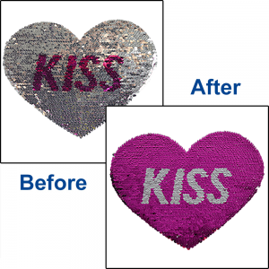 KISS HEART REVERSIBLE SEQUINS