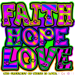 FAITH HOPE LOVE NEON