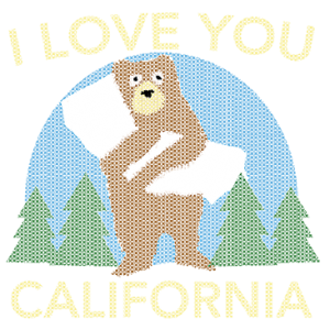I LOVE YOU CALIFORNIA BEAR