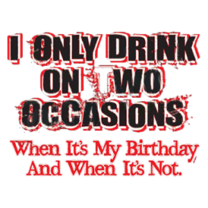 DRINK ON TWO OCCASIONS