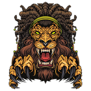 LION WITH DREADLOCKS