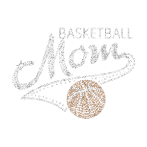 BASKETBALL MOM RHINESTONE