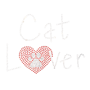 CAT LOVER RHINESTONES