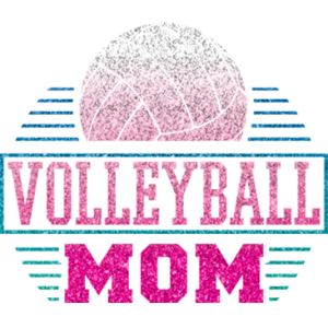 VOLLEYBALL MOM GLITTER
