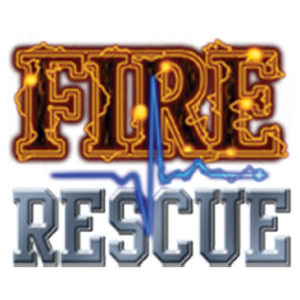 FIRE RESCUE WITH BLUE PULSE LINE