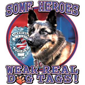WEAR REAL DOG TAGS POLICE