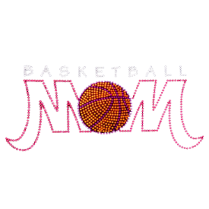 BASKETBALL MOM NEON RHINESTUD