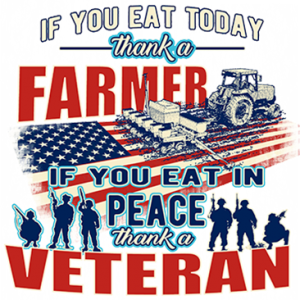 THANK A FARMER THANK A VETERAN