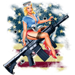 GIRL ON RIFLE
