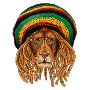 RASTA LION WEARING GLASSES