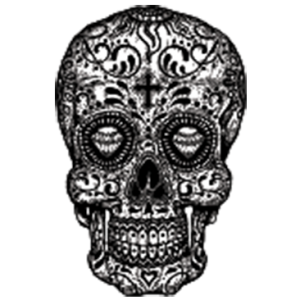 SUGAR SKULL-BLACK AND WHITE