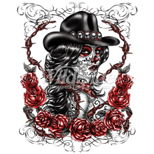 DAY OF THE DEAD COWGIRL