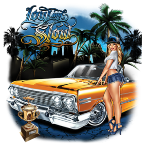 LOW AND SLOW LOWRIDER ART