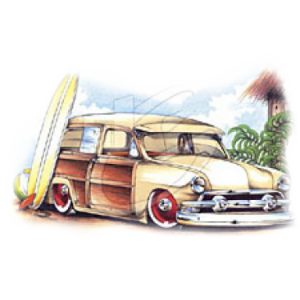 SURFIN WOODY  (pull 2 pcs)