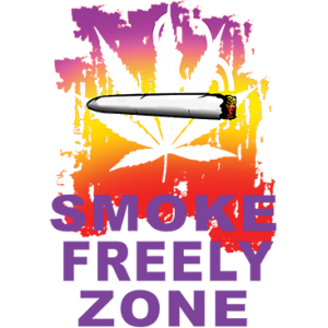 SMOKE FREELY ZONE
