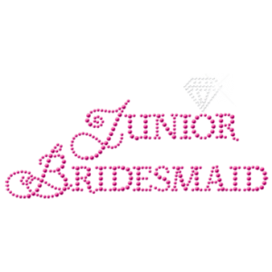 JUNIOR BRIDESMAID RHINESTUDS
