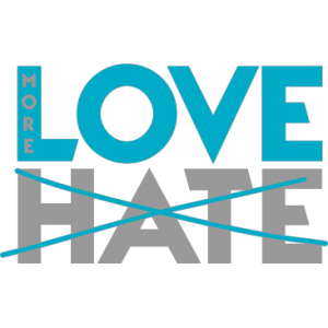 MORE LOVE NOT HATE BLUE