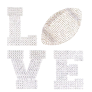 LOVE FOOTBALL RHINESTUD