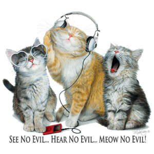 SEE NO EVIL HEAR NO EVIL-CATS