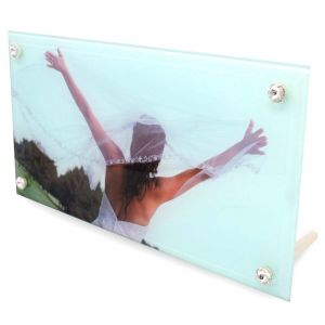 "12"" SMOOTH GLASS PHOTO FRAME- CASE OF 12"