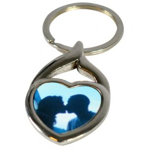HOLLOW HEART METAL KEYCHAIN
