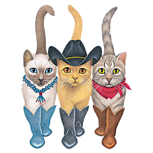 3 WESTERN CATS-FRONT (ADULT)