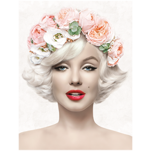 MARILYN WITH FLOWERS